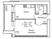 Продажа 1-комнатной квартиры, 36.8 м2, г Киров, Пугачёва, д. 29а, к. . - Фото 3