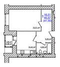 1 670 000 Руб., Купить квартиру в Жилом доме на Моховой, Купить квартиру в новостройке от застройщика в Ярославле, ID объекта - 325151262 - Фото 21