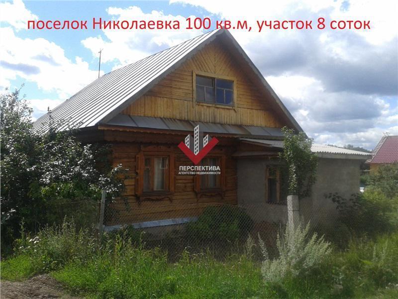 дежурную дом в николаевке уфимский район бревна,зимний, оформлен как