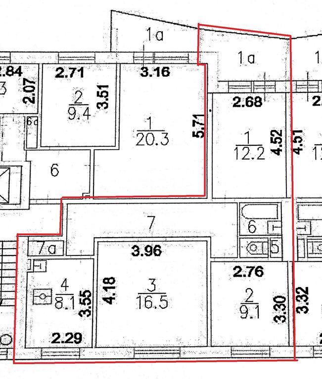 Продается трёхкомнатная квартира находится краснобогатырская.