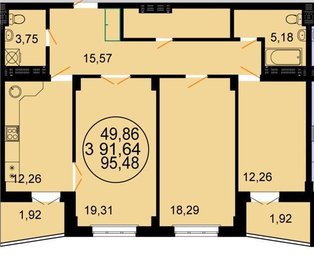 Продажа квартиры, краснодар, ул. симферопольская, купить ква.