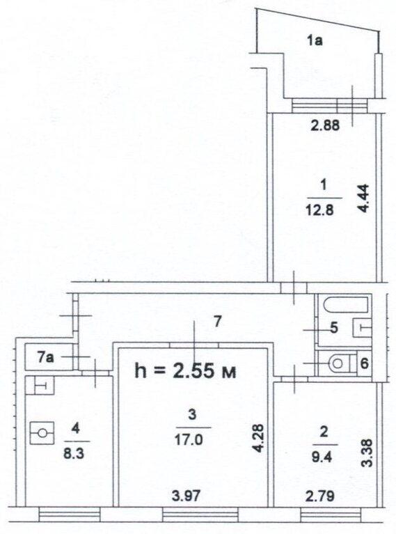 Свободная 3 к. кв. метро преображенская площадь, купить квар.