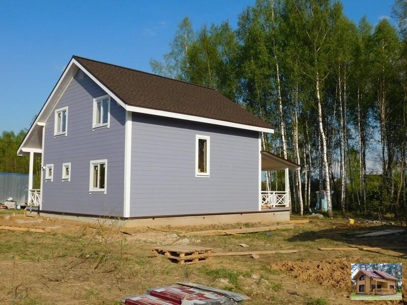 производство дома на киевском направлении деревянный