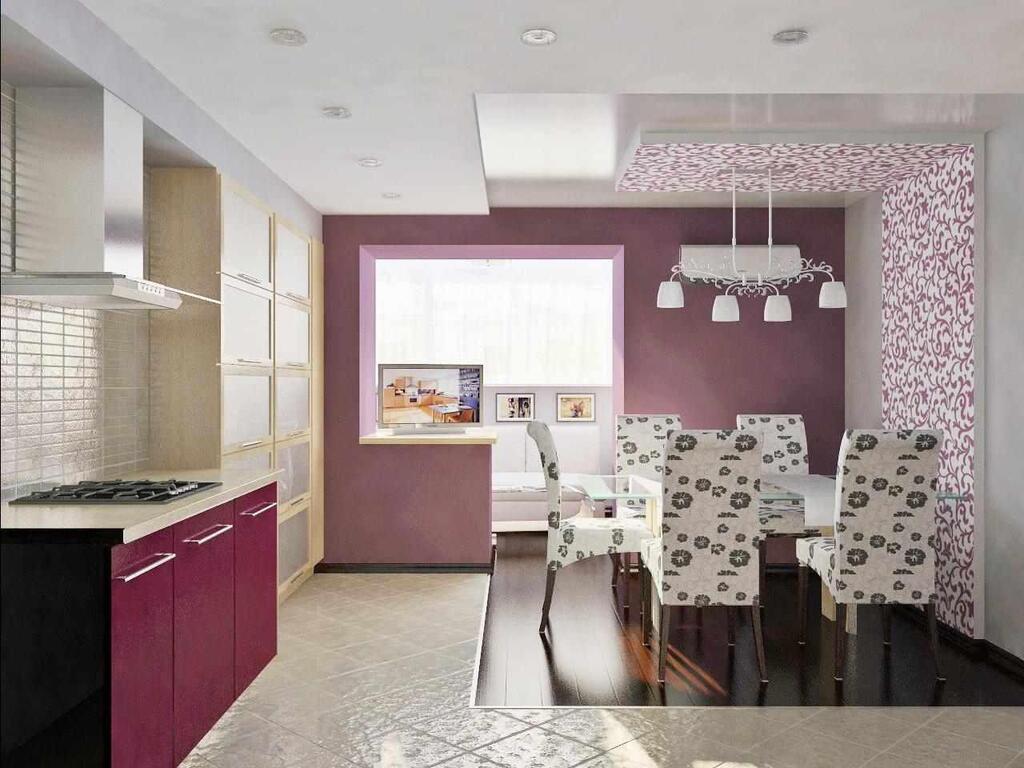Дизайн кухни с балконом: 42 фото идеи совмещения помещений.
