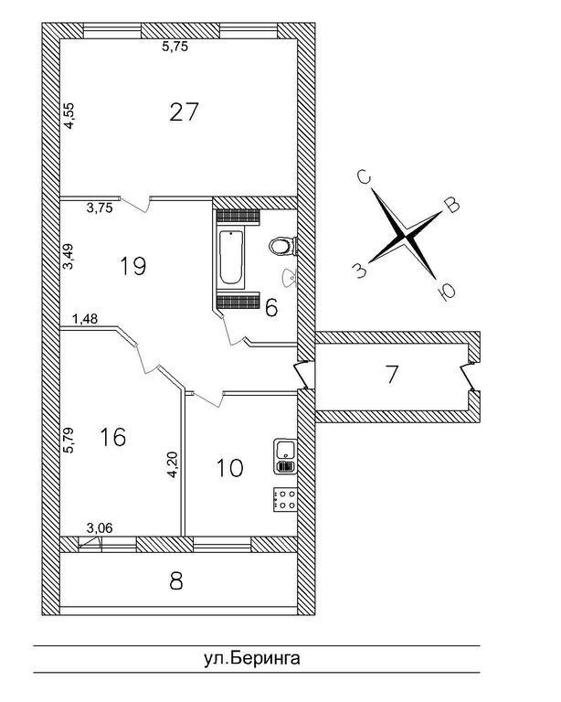Квартира с дизайнерской отделкой в новом доме 2005 г.п., куп.