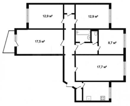Объявление №65267003: Продаю 5 комн. квартиру. Тюмень, ул. Домостроителей, д 14,