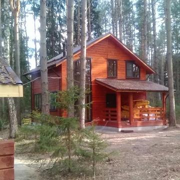 Загородный новый дом в лесу на берегу Волги - Фото 1