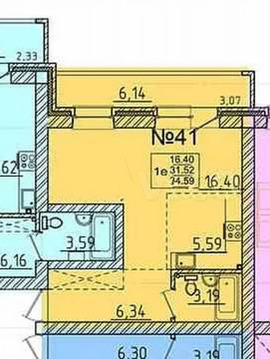 Объявление №66526488: Квартира 1 комн. Маркова, Березовый мкр., 254,