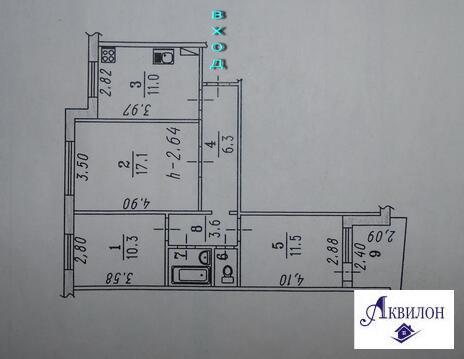 Продам 3-х комнатную квартиру на Лаптева, д.4 - Фото 2