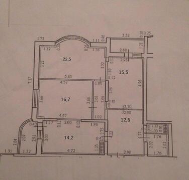 Новая Трехкомнатная Квартира в сданном доме. - Фото 3