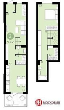 2-этажная квартира в г.Видное - Фото 1