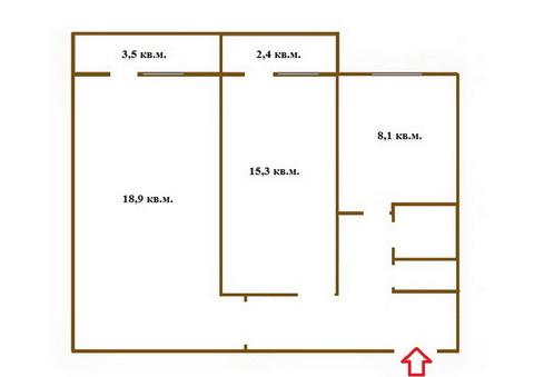 Двушка Довженко,6, круглый дом. Линейка, 2 балкона, треб. ремонт, торг - Фото 2