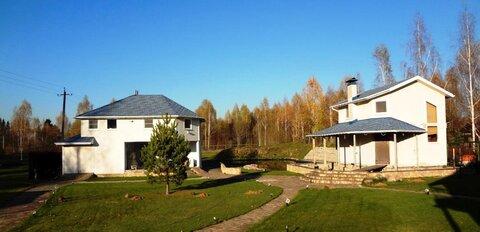 Дом 140м2 с банькой 64м2 и озером 150м2 - Фото 1