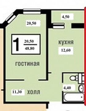 1 комн кв в Коммунарке, Сосенский стан - Фото 3