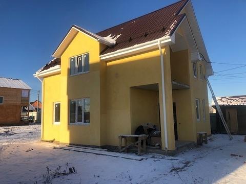 Новый каменный дом 120 кв.м, г. Чехов, 47 км от МКАД - Фото 1