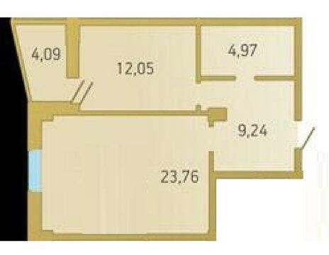 1 комнатная квартира в кирпичном доме, пр. Заречный, д. 39 к 1 - Фото 1