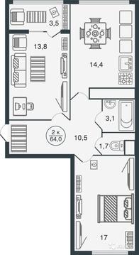2-х комнатная квартира в новом доме с индивидуальным отоплением! - Фото 3