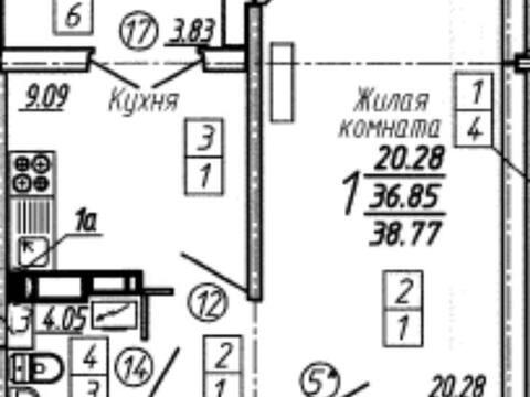 Продажа однокомнатной квартиры в новостройке на улице Артамонова, 34 в ., Купить квартиру в Воронеже по недорогой цене, ID объекта - 320575245 - Фото 1