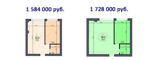1-к квартира на берегу моря 2/3 эт. 1 584 000 - Фото 3