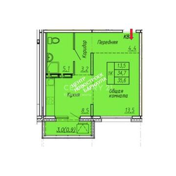 С-Власихинский 108 ( 1-комн. - 36 м2), Купить квартиру в Барнауле по недорогой цене, ID объекта - 329840936 - Фото 1
