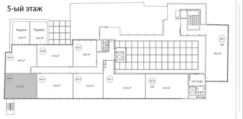 Офис в аренду 48.5 кв. м, м2/год - Фото 3