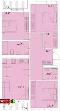 Продажа трехкомнатная квартира 85.00м2 в ЖК Квартал Новаторов секция е - Фото 1
