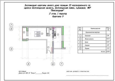 Продажа квартиры, Дубовое, Белгородский район, Благодатная - Фото 1