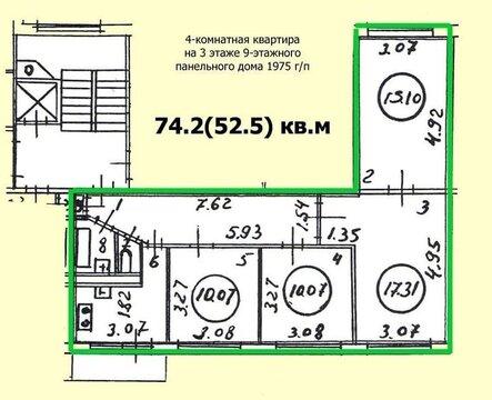 Продажа квартиры, Большевиков пр-кт. - Фото 3