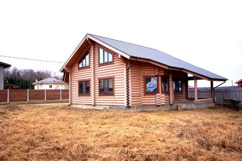 Добротный дом из оцилиндрованного бруса - Фото 1
