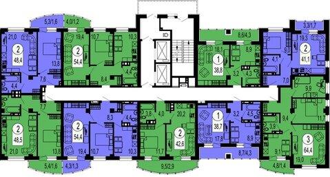Продам 1-комн. квартиру 48,5 кв.м. в новом доме.Ярыгинская наб. дом 15 - Фото 2