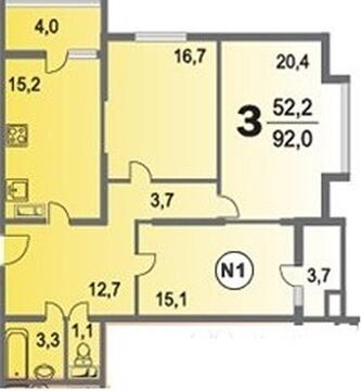 Купить квартиру в монолитном доме, Пикадилли - Фото 2