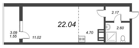 Продам студию. Воронцовский б-р к.А-Г, Купить квартиру Мурино, Всеволожский район по недорогой цене, ID объекта - 318417725 - Фото 1