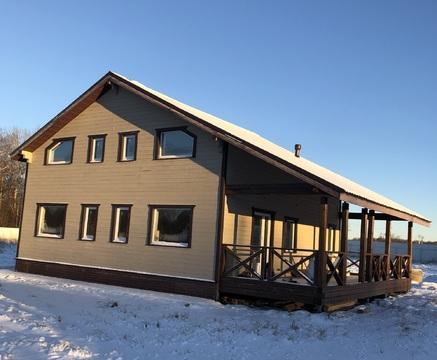 Новый жилой дом 150 кв.м. рядом с Волоколамском, свет, вода, 15с - Фото 1