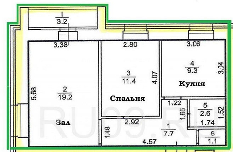 Продам двухкомнатную квартиру 52кв.м в Зональном - Фото 5