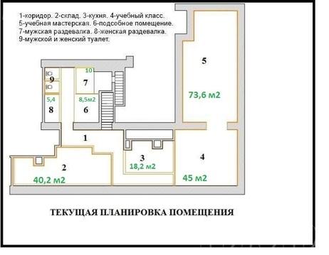 Псн 259 м2 у ст.м. Ленинский проспект, 5 мп, в аренду от собственника - Фото 2