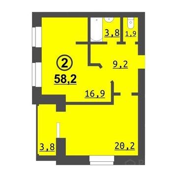 2 комнатная квартира в новом кирпичном доме, ул. Дружбы, д.73 к 2 - Фото 5