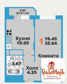 Продается 1к.кв, г. Мытищи, Кедрина, Купить квартиру в новостройке от застройщика в Мытищах, ID объекта - 330882285 - Фото 1