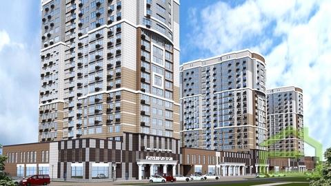 Трёхкомнатная квартира 78 кв.м. в новом ЖК на ул.Есенина, 9 - Фото 1