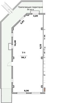 Помещение своб. назнач, 94 м2, этаж 1/5 в Ялте - Фото 2
