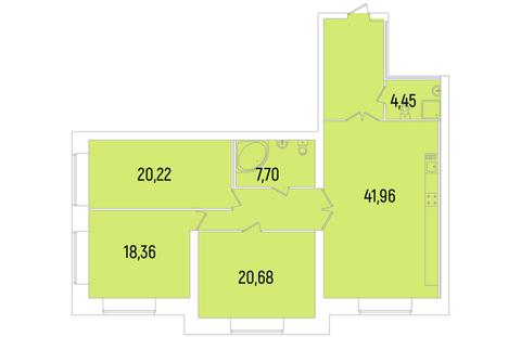 Продается трехкомнатная квартира комфорт-класса в парке Сосновка - Фото 3