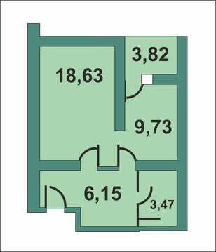 Однокомнатная квартира от собственника в ЖК Вертикаль.Рязань.Продам о, Купить квартиру в новостройке от застройщика в Рязани, ID объекта - 323263686 - Фото 1