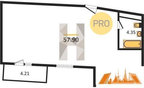 4 009 210 Руб., Продажа квартиры, Федоскино, Мытищинский район, Купить квартиру в новостройке от застройщика Федоскино, Мытищинский район, ID объекта - 330530798 - Фото 1