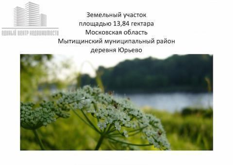 Участок 13.84га д. Юрьево (Мытищинский район) - Фото 3