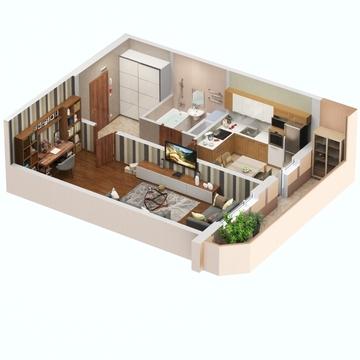 Однокомнатная квартира в новом доме рядом с центром! - Фото 3