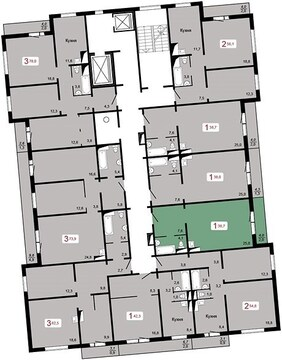 Продам квартиру-студию 38,7 кв.м. в новом доме. Скоро заселение! - Фото 2