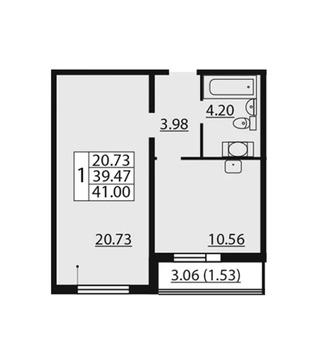Объявление №54862195: Продаю 1 комн. квартиру. Санкт-Петербург, Лидии Зверевой, 9 к2,