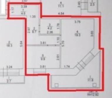 Однокомная квартира, площадью 44 кв.м. в кирпичном доме - Фото 3