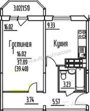 1-к квартира, 40 м, 13/14 эт. - Фото 3