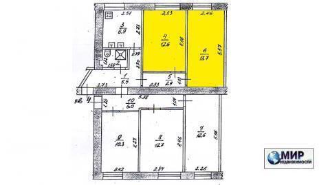 Продаются две комнаты в коммунальной квартире в городе Волоколамске - Фото 1
