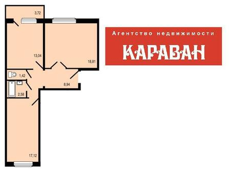 Продам 2-комн ул.Весенняя д.10, площадью 63 кв.м, монолитно-кирпичный